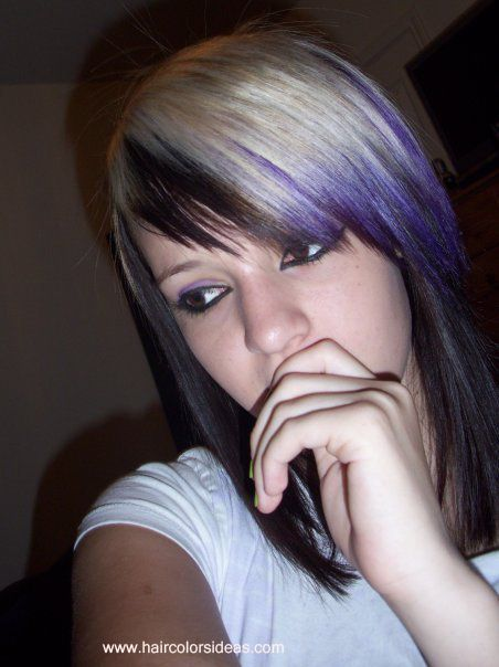 Dark Brown Underneath Platinum Blonde Upper Took A Chunk