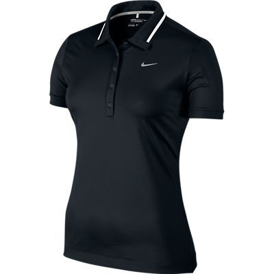 Featuring stretch fabric and notched hems this womens Icon swoosh tech golf  polo shirt by Nike provides a greater range of motion. Find this Pin and  more ...