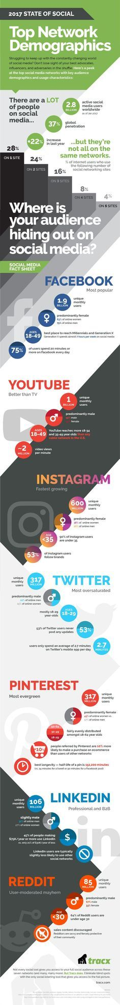 Demographics of the Top 7 Social Networks [Infographic]