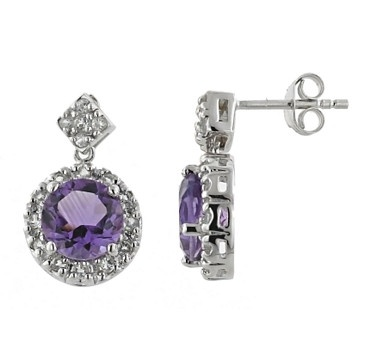You will love the sparkle and shimmer these fascinating sterling silver and rhodium plate earrings give off.