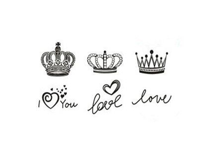 Crown Tattoo choices. Idk if I want more of a pageant look, the heart shape or a queen hmmm