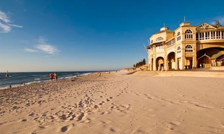 Cottesloe Beach, Perth, WA - spent Christmas day here once, the Indian Ocean was a beautiful deep turquoise colour.