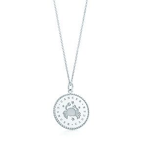 Zodiac charm in sterling silver on a chain. All signs available.