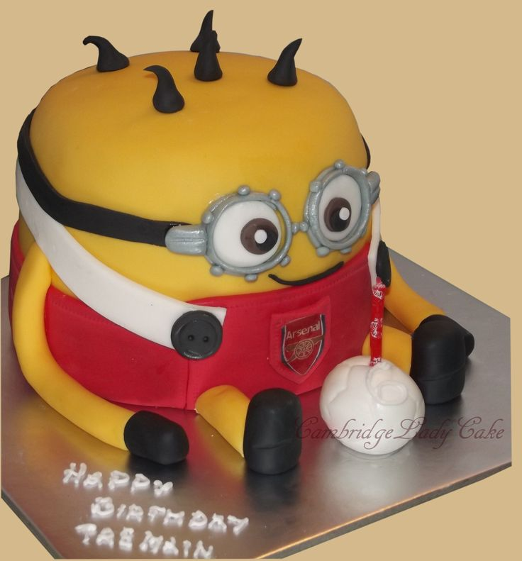 3D Minion Arsenal cake