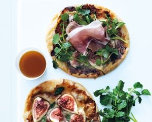 Donna Hay - Fig  Gorgonzola tart. Either make large ones as a main or make baby tarts to serve as canapes