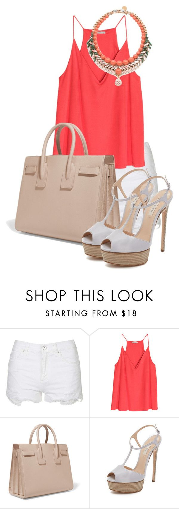 """La tempestad ep 57"" by xrisavladi ❤ liked on Polyvore featuring Topshop, Yves Saint Laurent, Casadei and Ellen Conde"