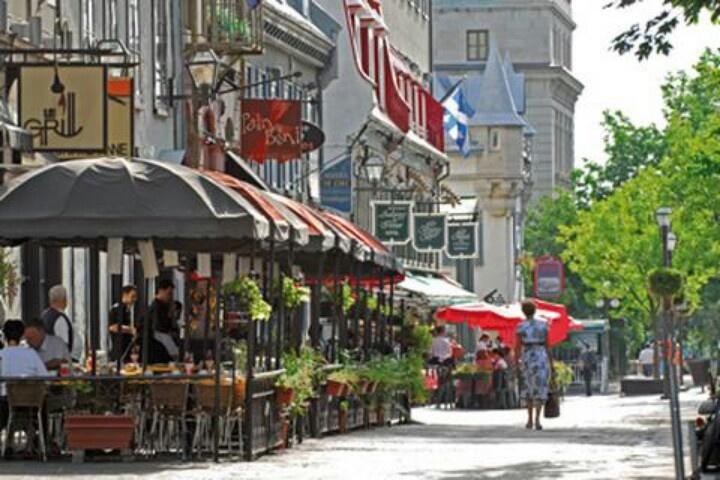 Cafe in Old Quebec City