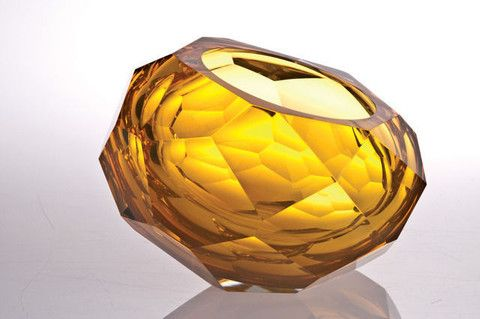 Faceted Glass Bowl – available at Bella Casa.  Artisan glass by Orfeo Quagliata
