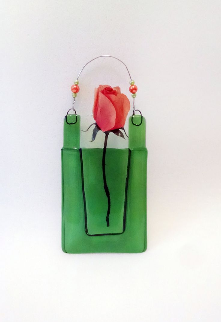 122 best flower pocket window wall hangings in fused glass fused glass wall vase pocket vase green wall hanging home decor reviewsmspy