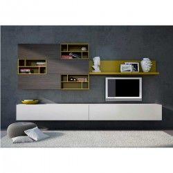 meuble tv mural roma atylia d co maison pinterest peintures murales et tvs. Black Bedroom Furniture Sets. Home Design Ideas