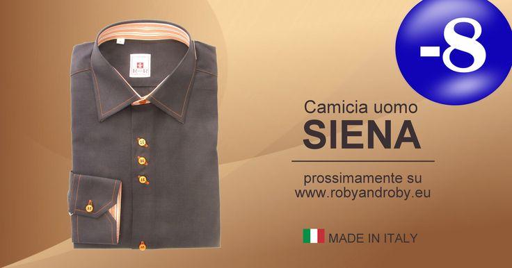 -8 giorni all'apertura! Camicia uomo SIENA prossimamente su www.robyandroby.ue