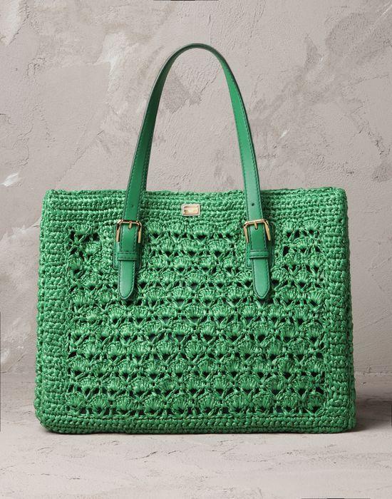 Ganxet-bosa ràfia...  -Alma rafia Donna - Borse Donna su Online Store Italia - Dolce  Gabbana Group
