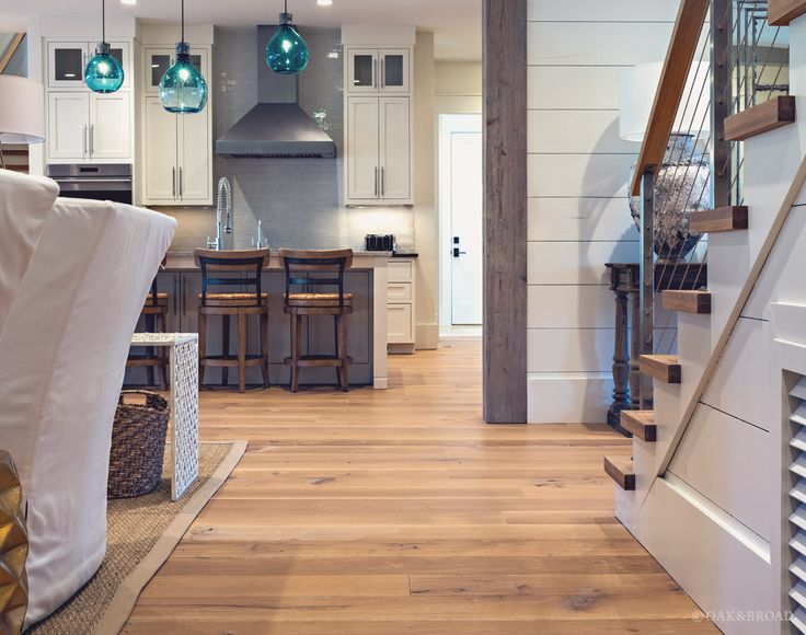 White Kitchen Oak Floors