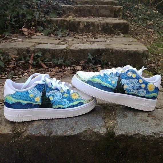 Van Gogh em 2020   Sapatos personalizados, Roupas pintadas