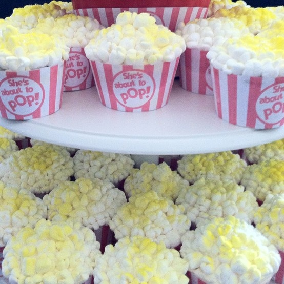 pop corn cupcakes: Cupcake Cakes Cakepops, Popcorn Lovers, Cute Ideas, Popcorn Cupcake Changing, Parties Ideas, Baby Shower Cut, Popcorn Cupcakes, Cups Cakes, Cupcake Movie