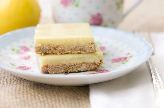 LEMON CREAM BARS - Gluten-Free,Low Sugar,Soy-Free,Vegan