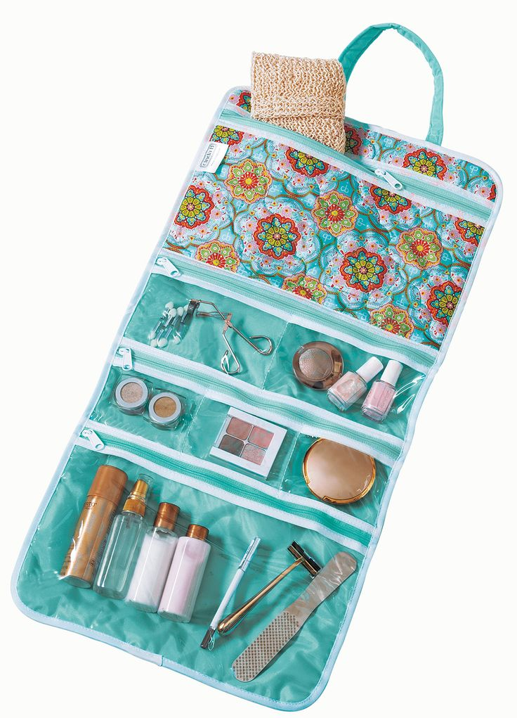 be organized when you travel with the handy hanging cosmetic! @organizingstore