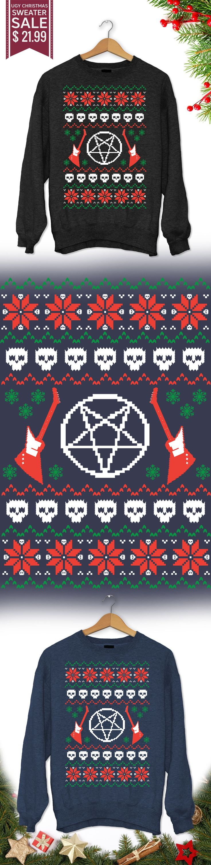Heavy Metal Christmas Sweater - Get this limited edition ugly Christmas Sweater just in time for the holidays! Buy 2 or more, save on shipping!