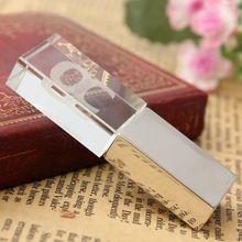 8GB 16GB USB 2.0 Crystal Transparent & LED Flash Memory Stick Pen Drive Storage Thumb Pendrive U Disk(China (Mainland))