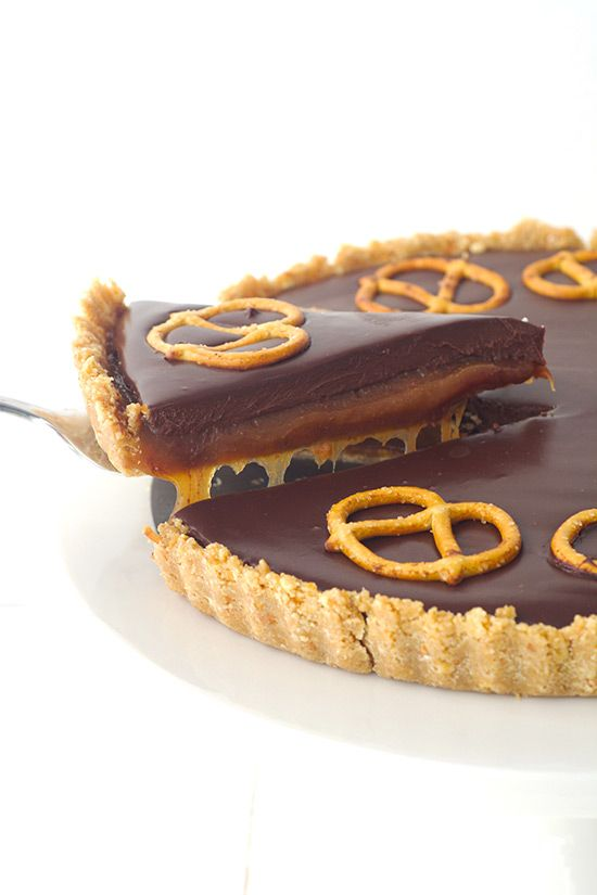 Chocolate Caramel Pretzel Tart — Sweetest Menu