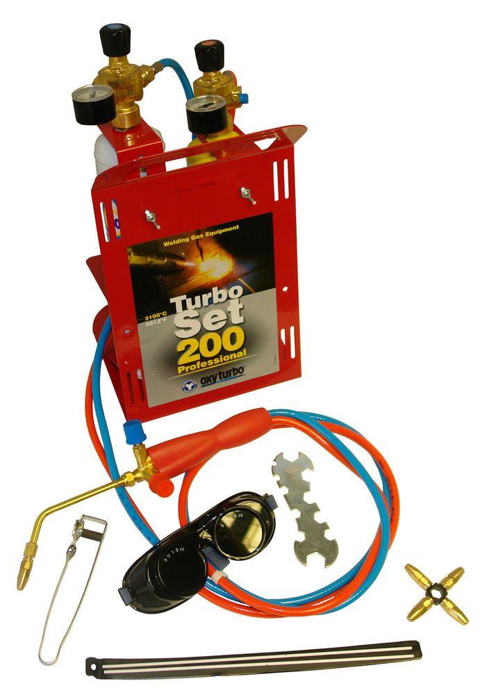 Oxyturbo set 200 portable gas welding & brazing kit