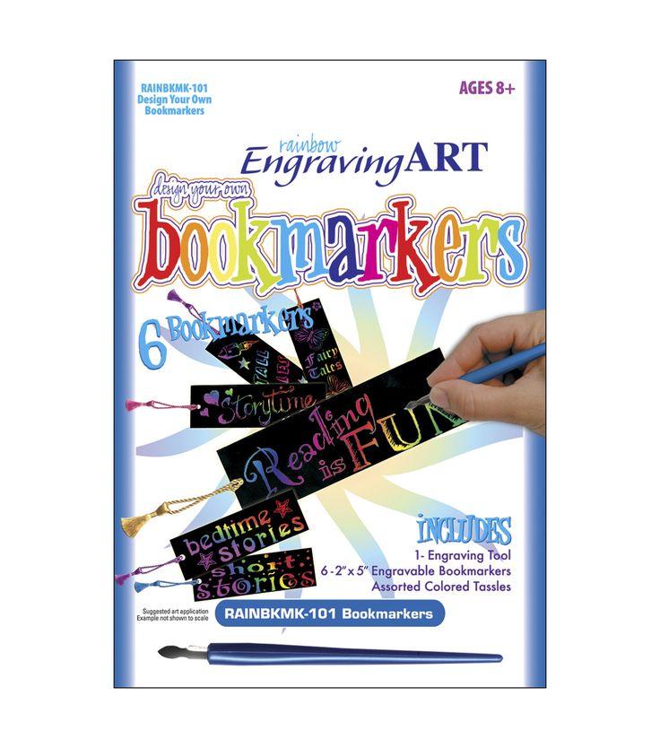 Royal Brush Engraving Art Design Your Own Rainbow Bookmark Kit, , hi-res