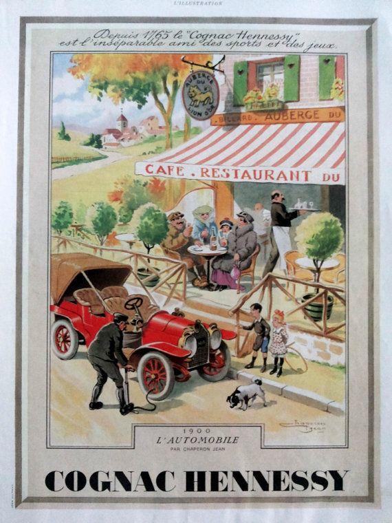 Publicit de cognac hennessy affiches d 39 art d co vintage - Affiche art deco ...