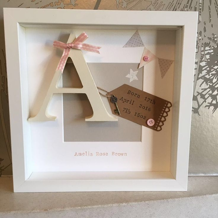 �� Personalised New Baby, Birth, Christening, Boy & Girl Frames Gift/Keepsake