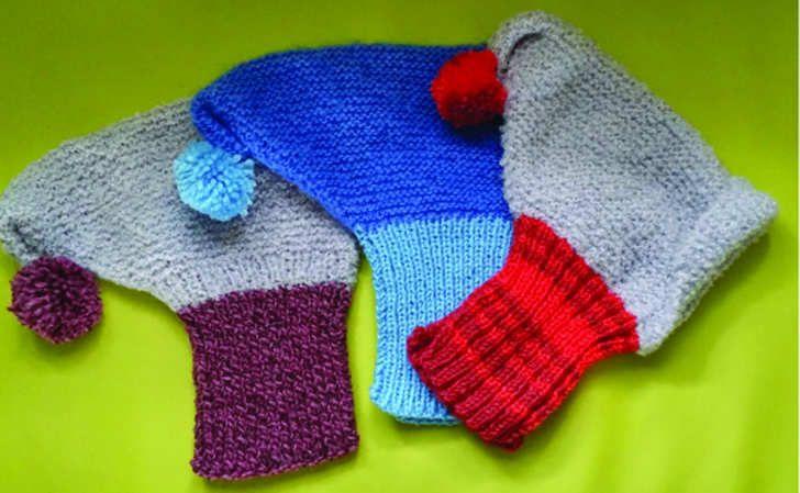 Patron des cagoules en laine pour lévriers de Maryvonne