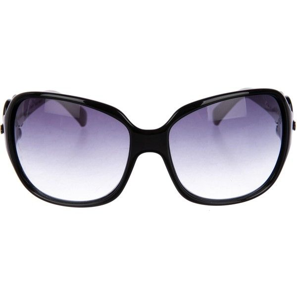 Pre-owned Fendi Oversize Buckle Sunglasses ($95) ❤ liked on Polyvore featuring accessories, eyewear, sunglasses, black, acetate sunglasses, oversized glasses, acetate glasses, fendi glasses and fendi