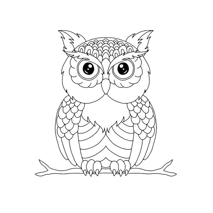 retro owl coloring pages | 93 best Coloring Pages images on Pinterest | Coloring ...