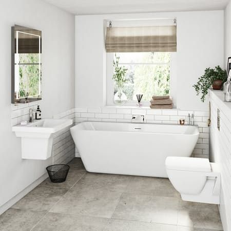 Mode Cooper Bathroom Suite With Back To Wall Bath