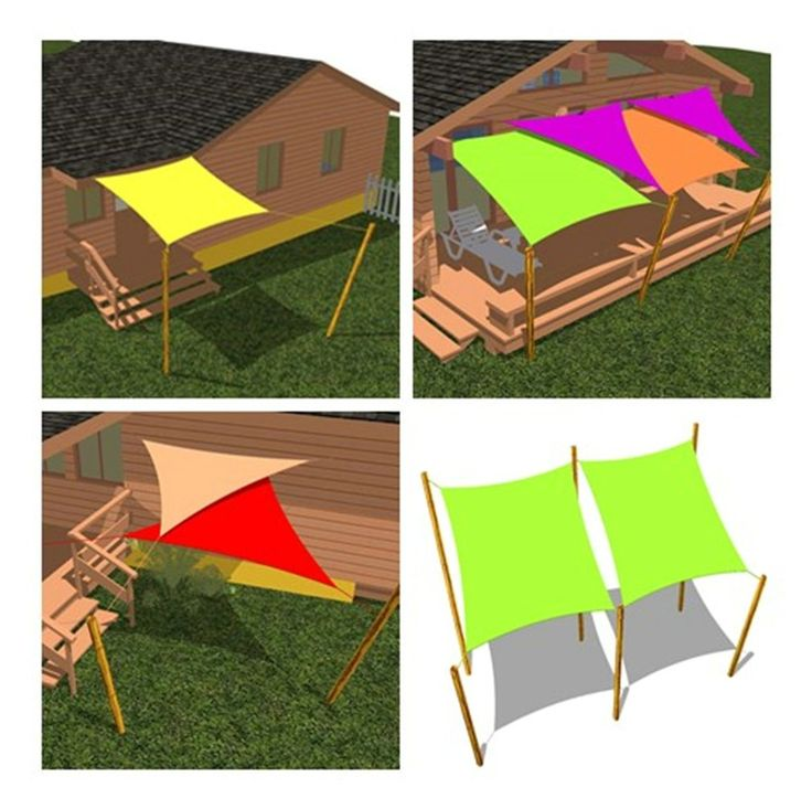 Cool area triangle 16 feet 5 inches durable for Shade sail cost
