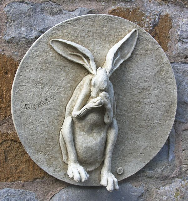 Superior Garden Wall Plaques : Animal Wall Plaques : Hare Wall Plaque U0027Hare And Seeku0027