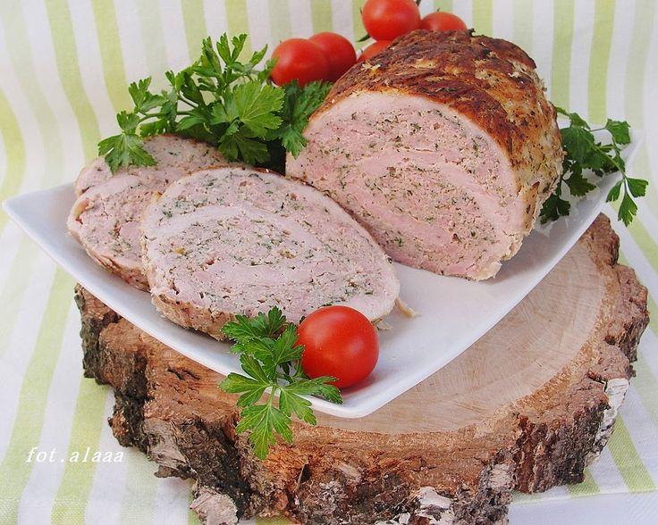 Ala piecze i gotuje ROLADA ZE SCHABU Z MIĘSEM MIELONYM