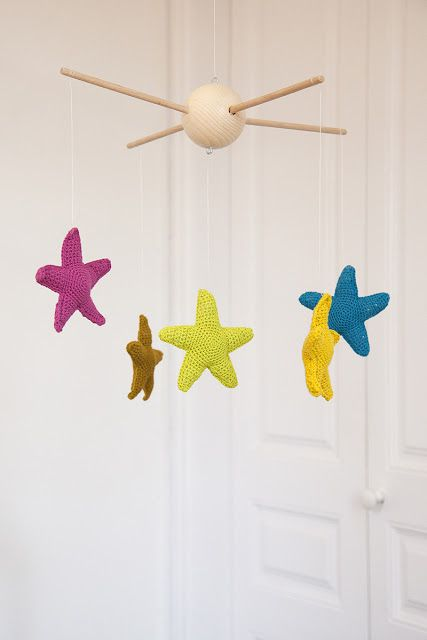 Stars Mobile, free pattern by Ganchitos