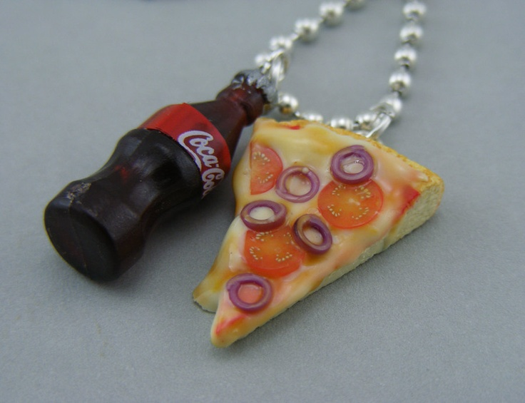 Pizza and Coke Necklace mmmmmm....: Stuff, Necklaces Mmmmmm, Colar Pizza, Cocacola, Coke Necklaces, Coke Factors