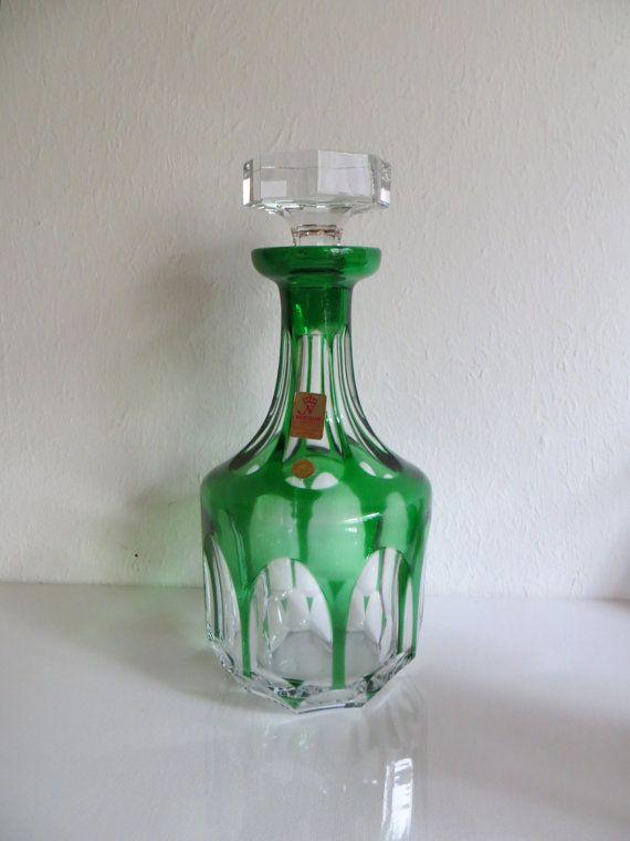 Mid Century Crystal decanter Nachtmann / Karl Riedl