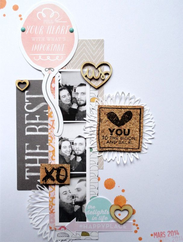 #papercraft #scrapbook #layout.  Love you to the moon and back by Laudicia at @Studio_Calico