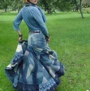 юбка из лоскутов, как шить