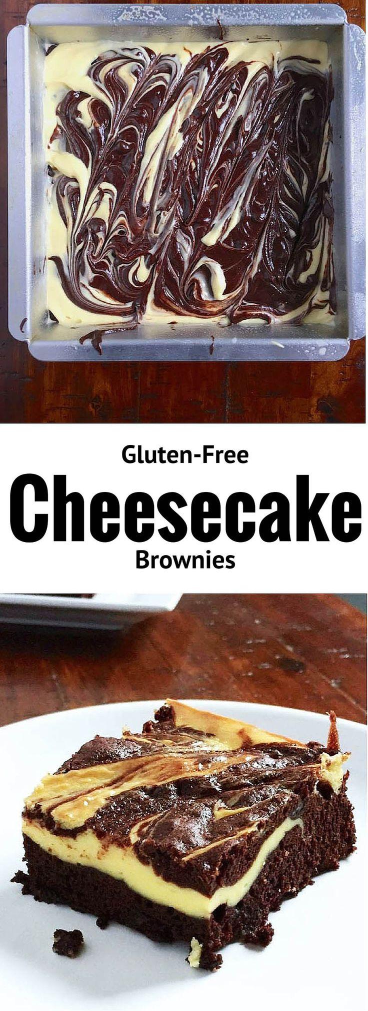 Gluten-Free Cheesecake Brownies
