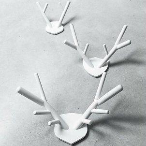 HK-living Bois bois de cerf 29x36cm blanc (M)