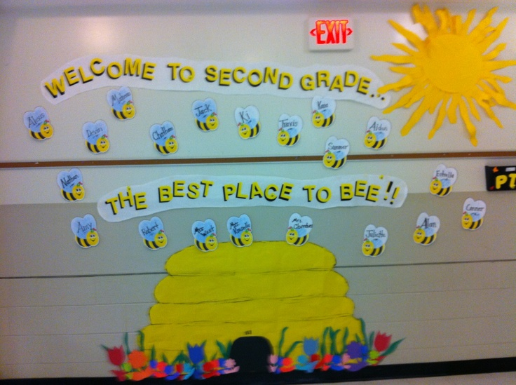 Welcome Back To School Bee Hive Bulletin Board2nd