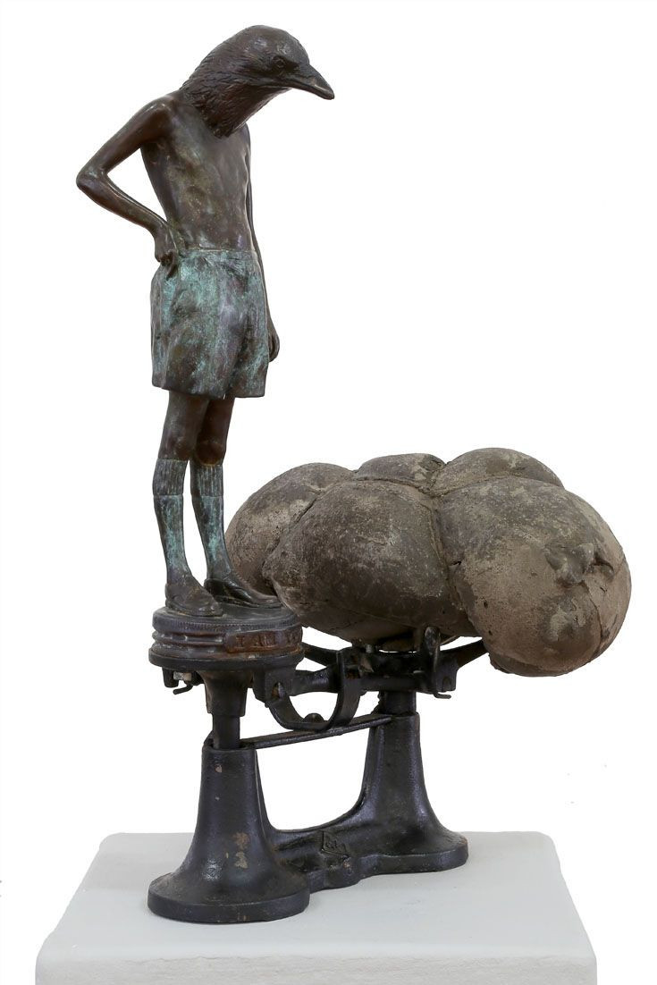 An original sculpture by Elizabeth Balcomb entitled: All that I am, bronze ed of 15, 51cm x 30cm (front left side) #sculpture #bronze #ElizabethBalcomb #SouthAfricanArtist #SouthAfricanArt #Therianthrope For more please visit www.finearts.co.za