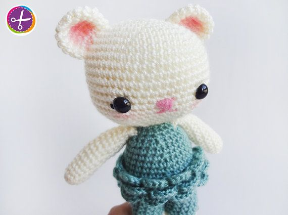 Sea Green Miss Bear Amigurumi  Ready to Ship by HinaPalitah