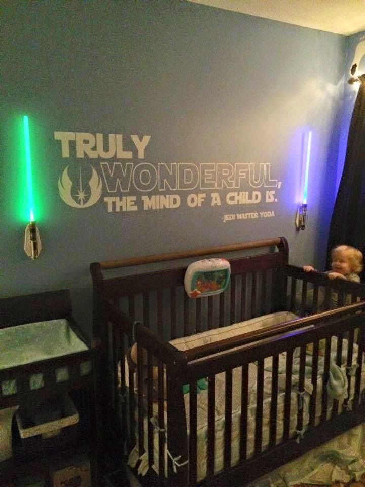 Cool Geeky Ways To Create Your Own Star Wars Baby Room Star Wars Baby Room Star Wars Room Star Wars Nursery