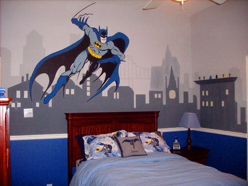 kids room superhero mural | Create another world in your child's room with murals!