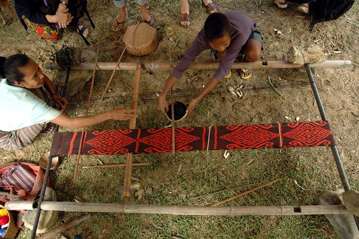 The Art of Weaving. Women from Illiomar, Timor-Leste. Futus also know as Ikat, is a resist dye technique, designs are unique to location and family heritage.