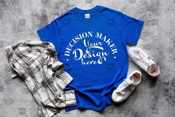 Download Royal Gildan 5000 Mockup Royal Unisex T Shirt Mock Up Etsy Shirt Mockup T Shirt Gildan