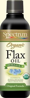 Certified organic Flax seed oil......one of the best things in the world for you.   Can add to salads and veggies...or just a tablespoon or so straight (it doesn't taste bad).